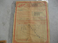 Rare Vintage 1945 US Treasury Department Opium Order Sheet Receipt