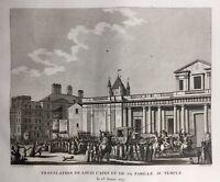 Louis Capet 1792 Marie Antoinette Louis 16 Prison Temple Révolution Française