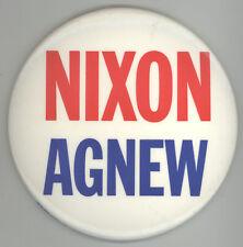 LARGE RICHARD NIXON Spiro Agnew PRESIDENT Political PIN Button PINBACK Badge