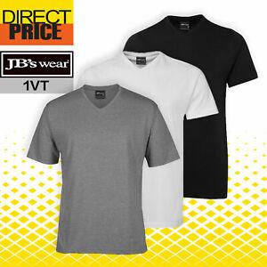 Jb's wear Mens 100% Cotton V neck T shirt Tee (1VT)