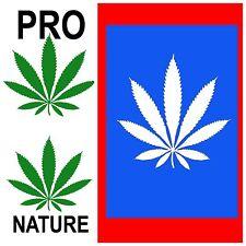 3 STICKERS   Weed 420 Marijuana Decal Decor Protest