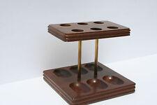 Vintage 6 Pipe Display Holder Rack Stand Decatur Industries Deco Genuine Walnut