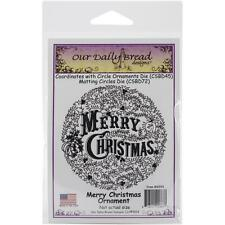 Merry Christmas Ornament Cling Stamp Our Daily Bread NEW holiday craft holy art