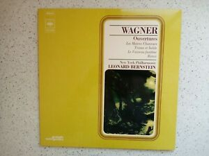 WAGNER   Ouvertures /  LEONARD BERNSTEIN       LP VINYLE 33T