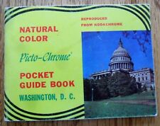 Washington DC Color Picto-Chrome Pocket Guide Book Vintage Uberman Novelty