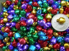 100 Mezclado Color Metálico Decorativo! carillón de Navidad-Adornos Lindo Bell