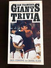Vintage San Francisco Giants Baseball Trivia Book