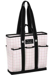 SCOUT Bag Large Pocket Rocket Tote Graphy Taffy Pattern Pink White Black NWT