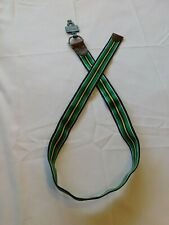 Polo Ralph Lauren belt Men's size M Navy Green White Yellow striped 356002 NWOT