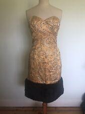 Terence Nolder Gold Cocktial Dress Size 10