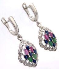 Gioielli di lusso in argento sterling zaffiro Rubino