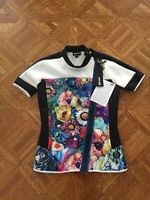 Just Cavalli $350 Flower Print Top In Size 40-4 US ! NWT !!