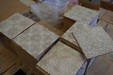 PALLET 130> DECOR 20x20cm VINTAGE BEIGE GOLD METALLIC GLOSSY WALL TILES 5M2