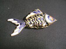 Beautiful Enamel Swimming Fish Pendant Cloisonne Style