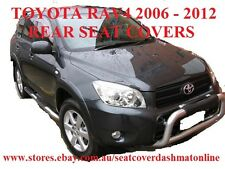 REAR BLACK VELOUR SEAT COVER TOYOTA RAV4 2006-2012, BLACK COLOUR