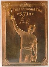 NOLAN RYAN Texas Rangers Astros Baseball's Greatest Champions 23 Karat GOLD Card