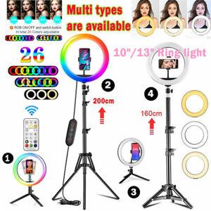 "10"" 13"" Inch RGB Ring Light LED Phone Selfie Ring Light Tripod For Live Video"