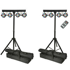 PAIR QTX PB-1214 48W RGBW Par LED DJ DMX Band Stage Lighting Party Bar Package