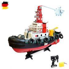 RC ferngesteuertes Boot, Hafenschlepper Polizeischiff mit Spritzturm, Schiff,Neu