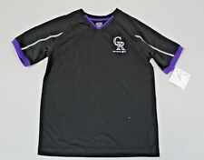 Colorado Rockies Team Athletics Kid's Short Sleeve T-Shirt AB3 Black Large NWT