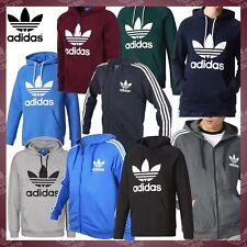 Adidas Hoodie Originals Mens Trefoil Logo Fleece Top Hooded Sweat shirt S M L XL