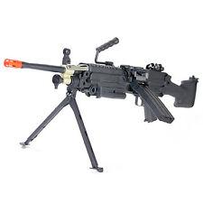 A&K M249 MKII Airsoft Gun Machine Gun Full Metal Gearbox Auto AEG Rifle Black