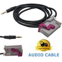 Car 3.5mm Jack AUX-in Audio Cable Interface Adapter For Audi RNS-E Navigation