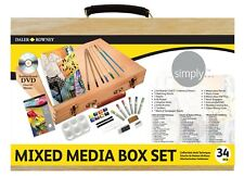 Daler Rowney Simply Mixed Media Wooden Box Set of Paint, Pencils, Accessories