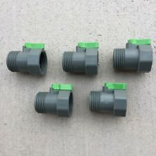 PVC Garden Hose Shut-Off Valve Heavy Duty Water Connector Lot of 5 SALE PRICE!