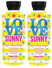 Supre Tan #Love Sunny Dark Bronzer Tanning Lotion 10.1 oz Lot of 2