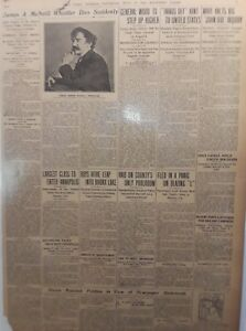 1903 Vintage Newspaper Artist Whistler Dies Suddenly-Russia Rejects Petition