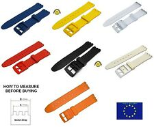 17mm (20mm) Strap  For Swatch Resin Durable Top Quality + Free Pins