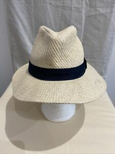 MARKS AND SPENCER Natural Fedora Hat Size S