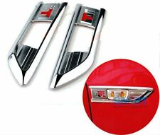 158- CZR Cruze Chevrolet Side Fender Indicator Classy Cover Fit Plate Chrome