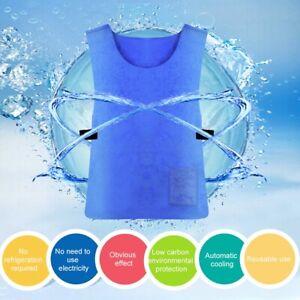 Men's Cooling Vest Summer Industry Workwear Sports Cooler Sunstroke Prevention