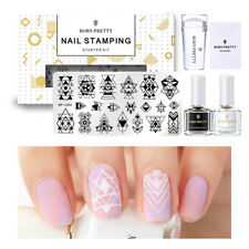 BORN PRETTY Nail Stamping Starter Kit: 2x Stamping polish,Plate and Stamper