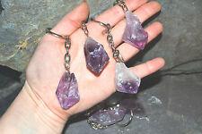 Raw Crystal Keyring healing stone AMETHYST reiki chakra protection gemstone