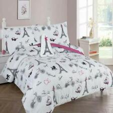 6-Pc Twin Paris Eiffel Tower Complete Bed In A Bag Comforter Bedding Set With Fu