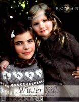 Rowan Winter Kids 20 designs for boys & girls aged 3 - 12, Very Good Condition B