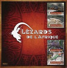 Togo 2014 MNH Lizards of Africa 4v M/S Reptiles Lezards de l'Afrique Chameleon