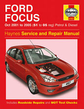 Haynes Manual 4167 Ford Focus 1.4 1.6 1.8 2.0 Zetec Petrol & Diesel 2001-2005