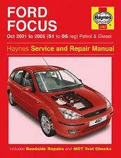 Haynes Manual 4167 Ford Focus 1.4 1.6 1.8 2.0 Zetec Petrol & Diesel 2001-2005