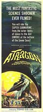 ATRAGON original TOHO JAPANESE SCI-FI movie poster 14x36 insert 1965