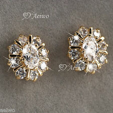 EARRINGS STUD 9K GF 9CT ROSE GOLD FILLED MADE WITH SWAROVSKI CRYSTAL