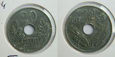 20  CENTIMES  Type 20  1944  ZINC