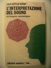 L'INTERPRETAZIONE DEL SOGNO Carl Alfred Meier edizioni mediterranee 1993