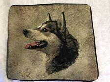 "Alaskan Malamute Dog head portrait Zippered 17"" Pillow Cover Cotton Tapestry New"