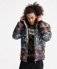 Superdry Mens Camo Mix Sports Down Puffer Coat