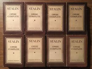 Stalin Opere Complete Edizioni Rinascita Edizione 1950-1954 In 8 Volumi Ottima