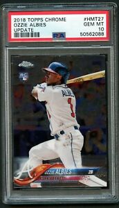 2018 Topps Chrome Update Ozzie Albies PSA 10 RC Rookie Card